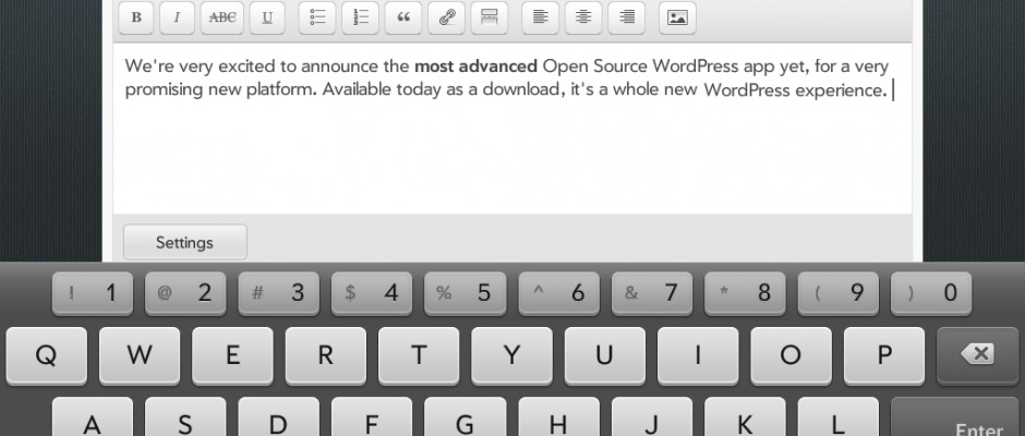 WordPress has just updated its app for iPhone / iPad.