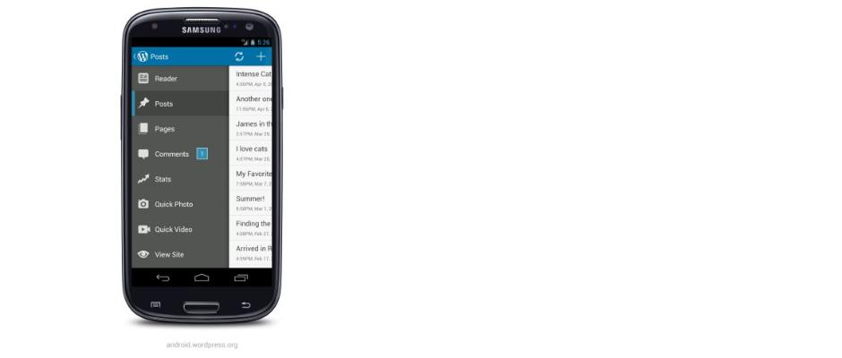 News in WordPress for Android 2.3